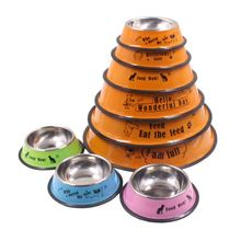 RoblionPet Hot sale cute pet bowl feeder/Stainless steel dog food bowl/Food pet dish
