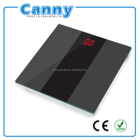 Glass bathroom scale , Body fat monitor, Easy to read LED display