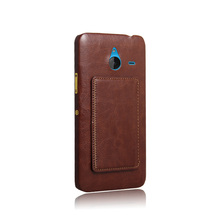 Kickstand wallet leather back cover for nokia lumia 640 xl