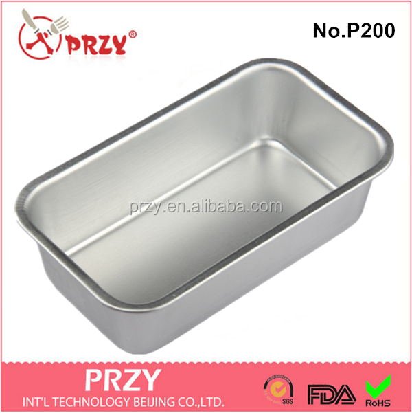 P200 High quality wholesale aluminium alloy loaf cake baking pans