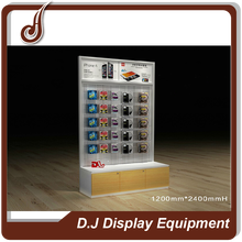 Customized size MDF PD and iron material mobile phone accessories display counter