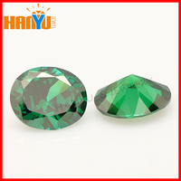 Wholesale emerald cubic zirconia oval cut loose gemstones green cz stone