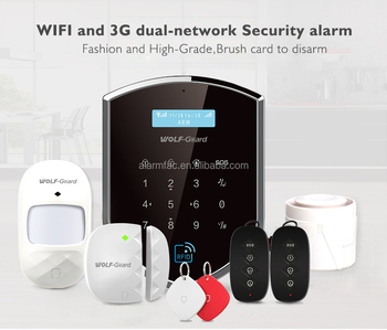 Wolf Guard 868 433 3G+Wifi Smart wireless home Intruder security alarm system with Italian Spanish Russian German APP control