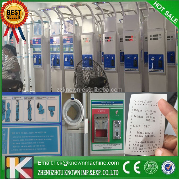 height weight vending machine/bmi height weight machine/electronic weight scale