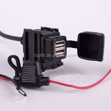 Waterproof Motorcycle Mobile Phone GPS Dual USB Power Supply Port Socket Charger