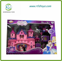Top selling toy castle with music and light plastic castle toy