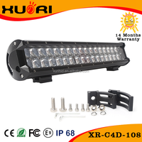 Discount!! High Quality 17 inch 4D Lens 108w led light bar 8100lm off road led light bars ETI Chip LED Spotlight Waterproof