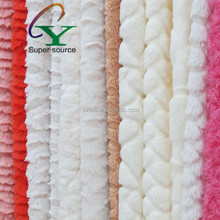 Free Sample 2015 New arrival PV Plush Velvet/Knitted Fleece Fabric/Toy Fabric