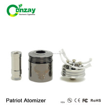 China wholesale 26650 atomizer 28mm patriot atomizer for 26650 mechnical mod