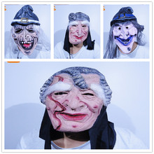 halloween custom human face scary realistic cosplay rubber ugly old man mask latex horror mask