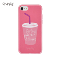 IMD Pink Drink Cup Printed Ultra Thin Lightweight Flexible Soft TPU Anti-Scratch Matte Back Cover Case For Apple iPhone8