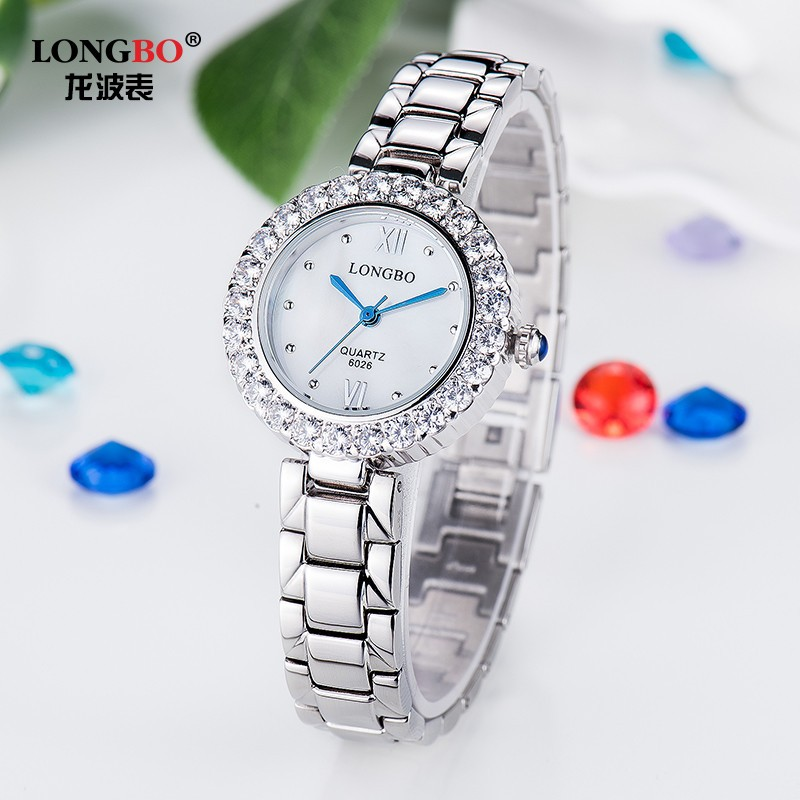 LongBo customize watch malaysia latest design girls top stainless steel case back watch