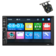 2 Din Multimedia Navigation System Car DVD Stereo Player with HD camera
