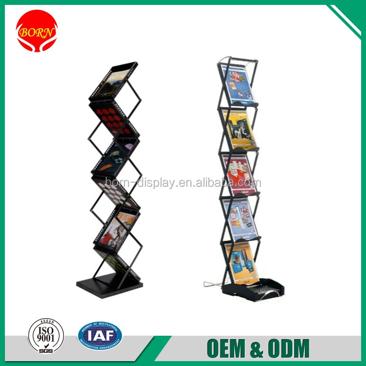 High Quality Christmas use Iron Aluminum Material Portable Literature Display Stands