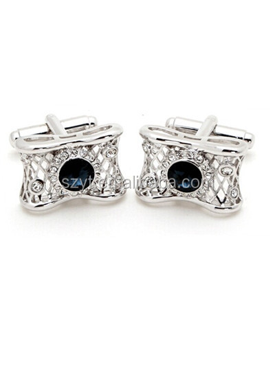different fancy customized silver diamond cufflink