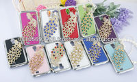 Luxury Rhinestone Diamond Crystal Bling Case For SUMSUNG S4 /I9500 Siliver Side