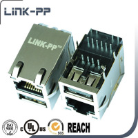 Single Port RJ45 Connector with USB With POE