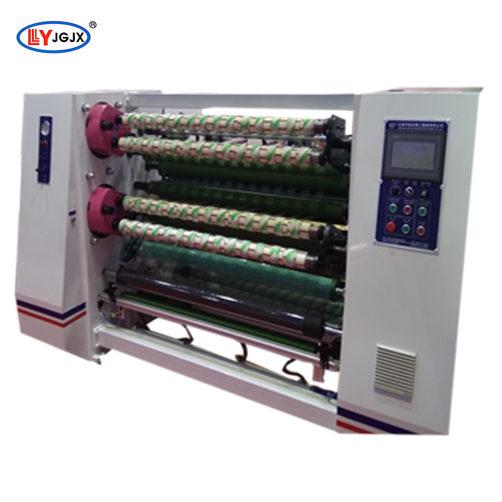 LY 212 caution tape slitter rewinder machine/aluminum foil roll adhesive tape slitter/automotive masking tape slitting machine