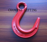 G80 large opening eye hook,forged lifting eye hook for chain