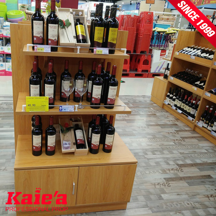 20 years factory experience wooden wine display cabinet
