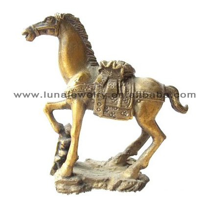 Brass Material Chinese luckly horse ,money horse ,fengshui horse