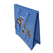 eco friendly insulated cooler bag/blue non woven fabric cooler lunch bag
