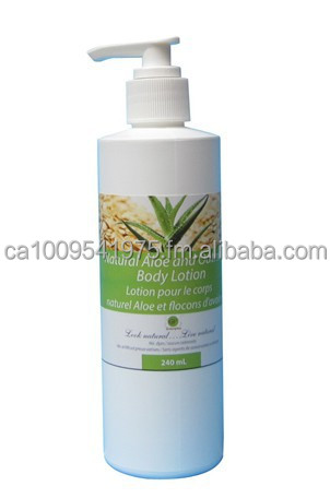 Made in Canada Natural Aloe and oatmeal body lotion