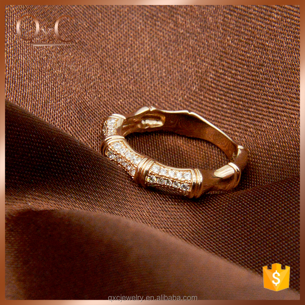 Silver Imitation Ring Jewelry Custom Engraved Wedding Ring bamboo wedding ring