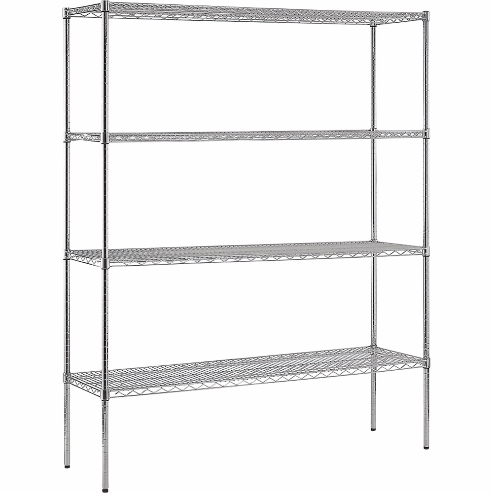 Used rolling chrome display floor free standing square wire shelving