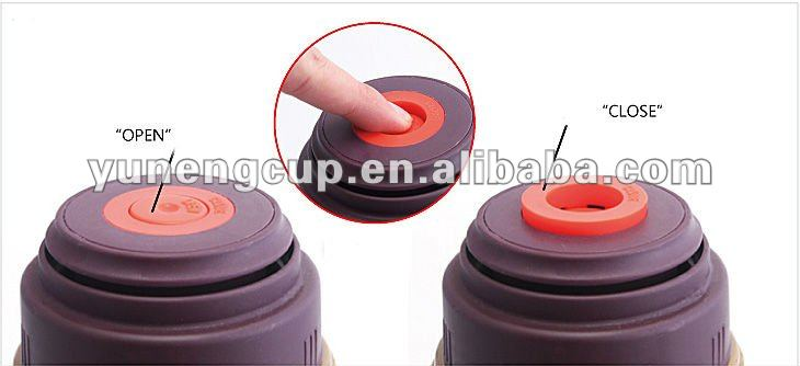 BPA free double wall vacuum thermos wide mouth bottle