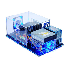 POP Custom Clear Computer Cases OEM acrylic transparent clear plastic computer case