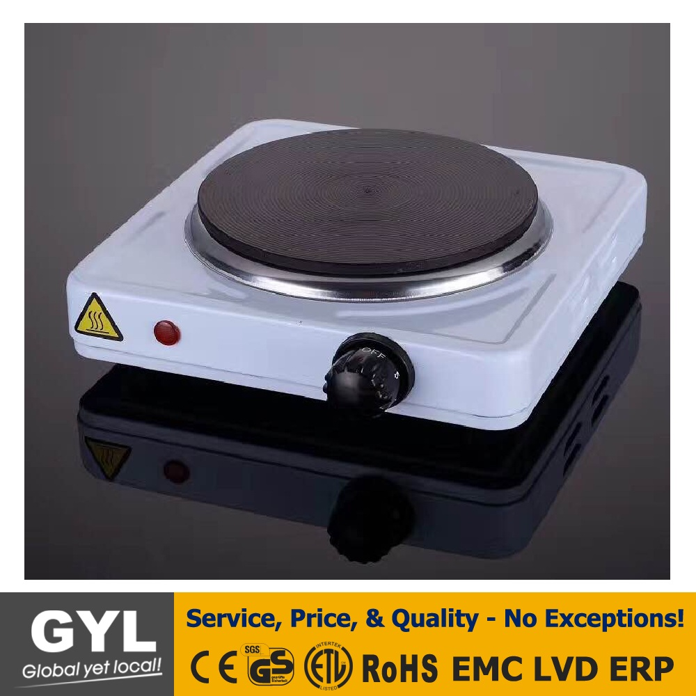 Electric Single Burner Cooktop Countertop Burner Electric Stove Single Buffet Burner Electric Hot Plate White