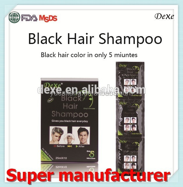 private labeling for Cosmetic Companies Dexe hair blackening shampoo best selling products