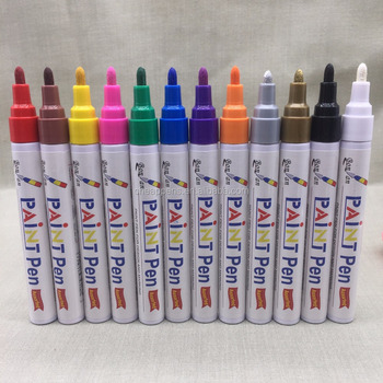 28 colors oil based permanent paint marker for canvas rock metal glass industrial writing