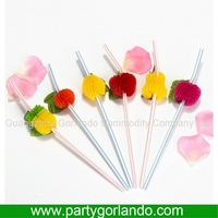 Disposable promotional wedding decoration party straw