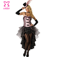 Plus Size Burlesque Sexy Costumes Women Halloween Role Play Black&Pink Dancing Queen Fancy Dress Cosplay Costume For Girls Adult