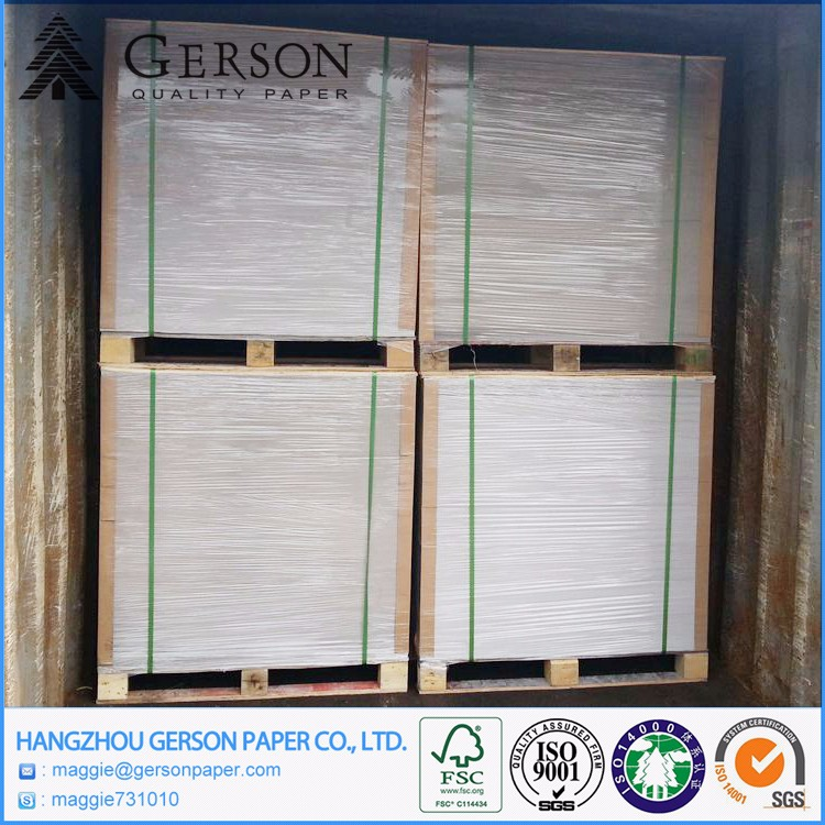 Wholesale China Factory Waste Paper Duplex Board Grey Back Raw Material