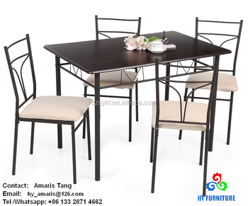 Kitchen wooden dining table and chair sets