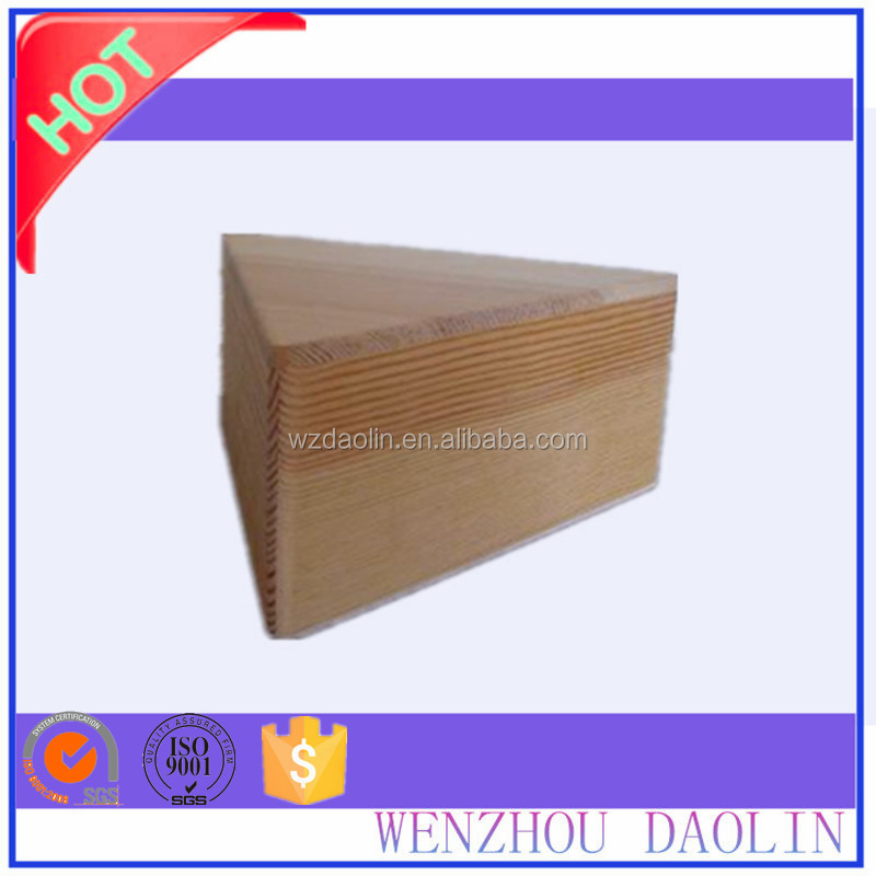 triangle Shaped Unfinished Natural Wood box packaging