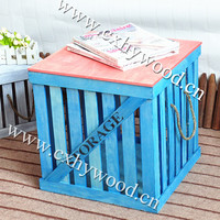 cheap wooden crates shabby chic vintage crates Plain display crates