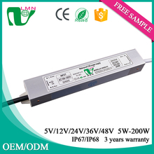 36V 20W waterproof electronic lighting led driver IP67