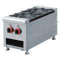 2 Burners Commercial Stainless Steel Counter Top Gas Range