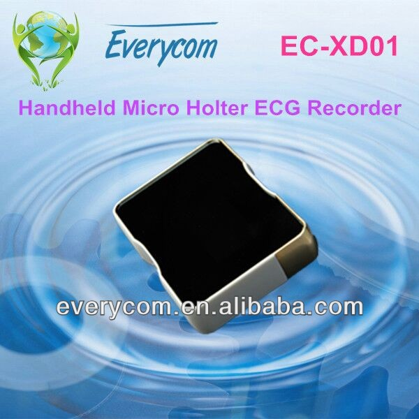 Micro holter ECG recorder with digital display