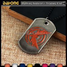 Wholesale military fashion sublimation electroplating Retro flying eagle logo bulk cheap personalized custom dog tags for dog