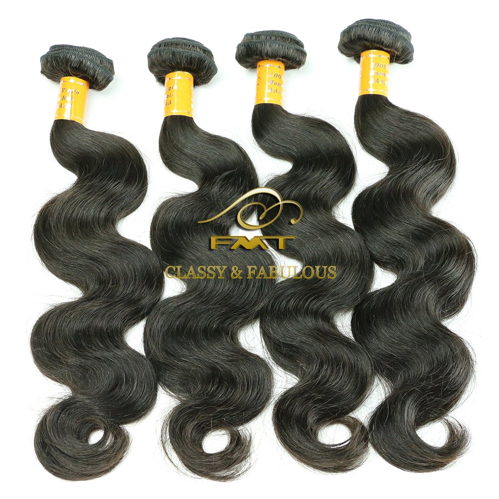 FMT Best Selling Product 1b# 8A Grade Brazilian Hair Body Wave Hair Styles Pictures Halo Hair Extension