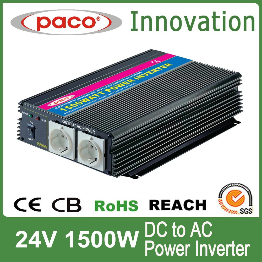 MAXX power inverter 1500w,off grid 24V DC to 220V/110V AC,with CE CB ROHS certificate