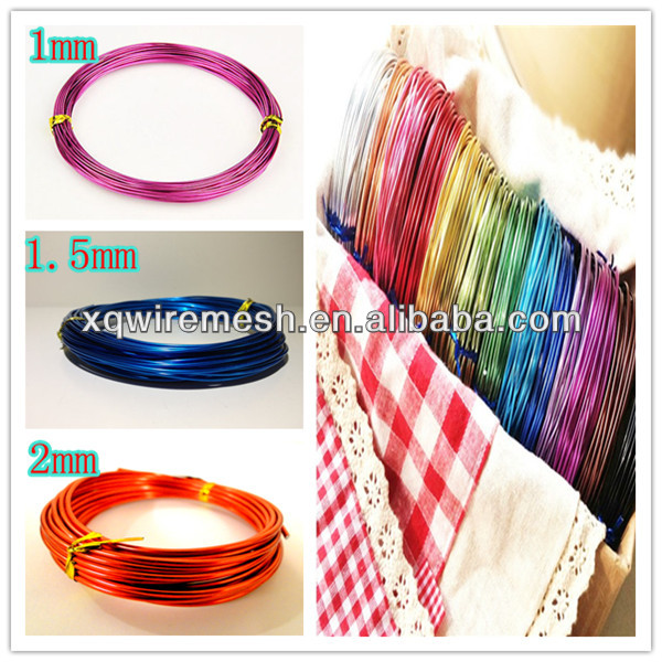 All size colored aluminum wire,colored craft wire,aluminum jewelry wire
