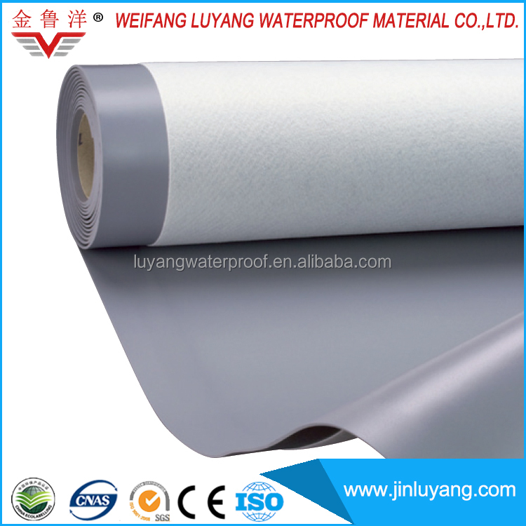 roofing PVC waterproofing membrane for flat roof