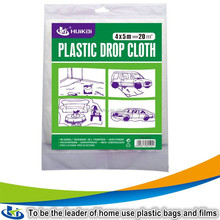 HDPE table cloths plastic drop cloth dust cover sheet