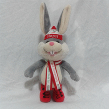 Fashion easter bunny long ear rabbit stuffed plush custom easter bunny soft plush stuffed bunny for baby